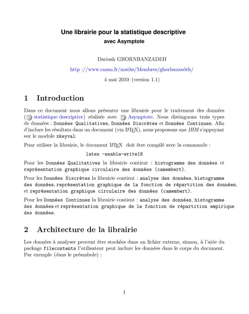 cours statistique descriptive pdf ofppt